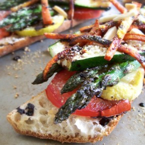 Grilled Vegetable Sandwich w/ Balsamic & Almonds