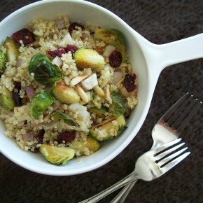 Quinoa with Roasted Brussels Sprouts