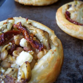 White Bean and Artichoke Tarts